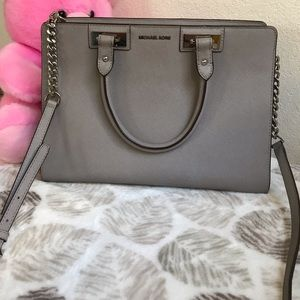 Michael kor Grey Satchel crossbody bag